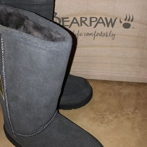 Bearpaw Womens Meadow Charcoal Boots Size 5